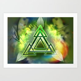 Sacred Geometry - Equilateral Triangle 05 Art Print