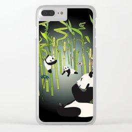 Panda's Playground - Dark Version Clear iPhone Case