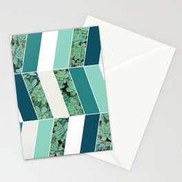 Teal Herringbone #society6 #teal #succulent Stationery Cards