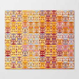 Retro African Textile Warm Tones Canvas Print