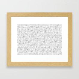 grid city. Framed Art Print