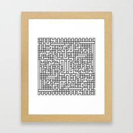 Black pattern light Framed Art Print