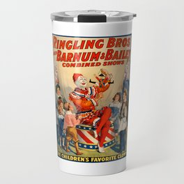 Vintage Circus Poster Travel Mug