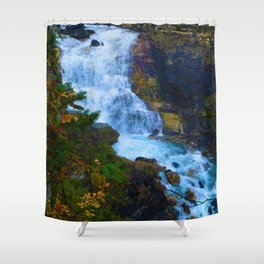 White Falls along the Berg Lake Trail in BC Shower Curtain