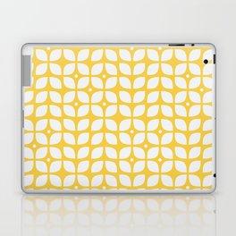 Yellow geometric floral leaves pattern in mid century modern style Laptop & iPad Skin