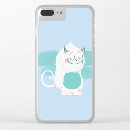 Cute Baby Monster 1 Clear iPhone Case