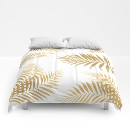Golden Palm Leaves Comforters