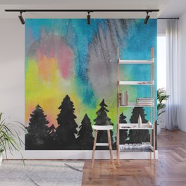 Northern Lights and Starry Sky Wall Mural