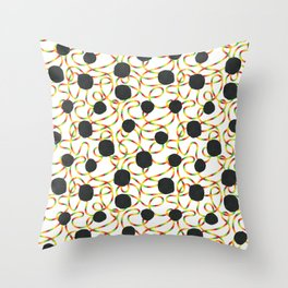 rainbow blackout Throw Pillow