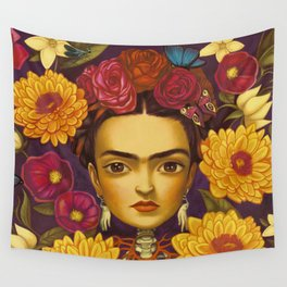 Frida Flowers Wall Tapestry