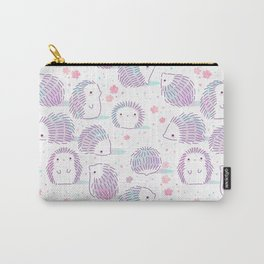 Spring Hedgehog Pattern Carry-All Pouch