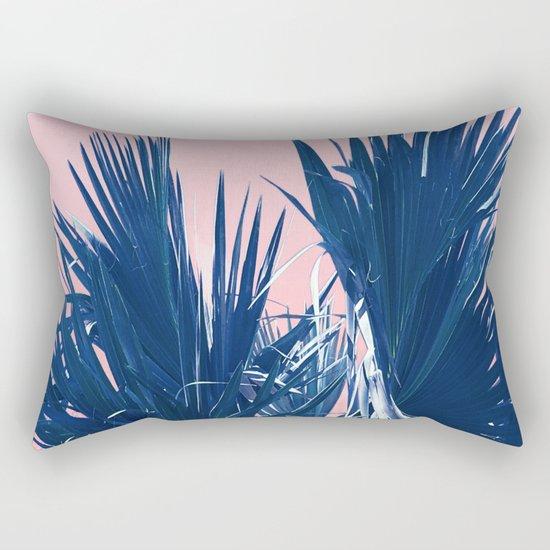 Pink Palm Twist Rectangular Pillow