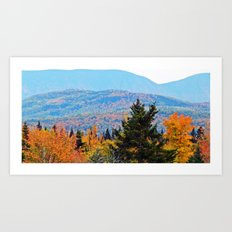 From Hills to Mountains Art Print
