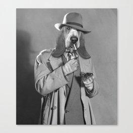 Detective Dog. Canvas Print