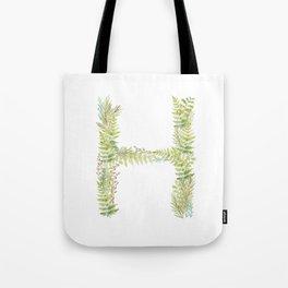 Initial H Tote Bag