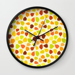 Linden tree autumn leaves Wall Clock