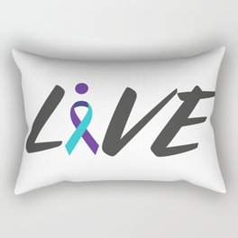 Live suicide prevention awarness Rectangular Pillow