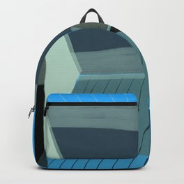 Blue Architecture 4 Backpack