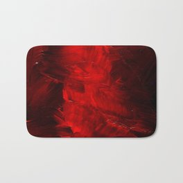 Red Abstract Paint | Corbin Henry Artist Badematte