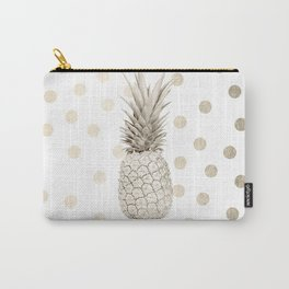 Gold Pineapple Polka Dots 1 Carry-All Pouch