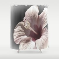 hibiscus Shower Curtains featuring Hibiscus by Lynn Bolt