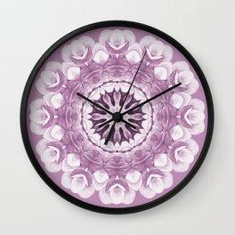Floral Mandala - Purple Pastel Wall Clock