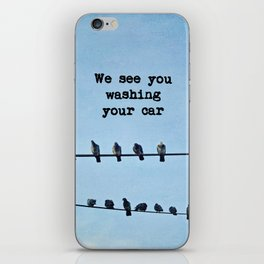 When Pigeons Plan... iPhone Skin
