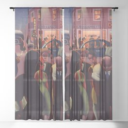 African-American 1934 Classical Masterpiece 'Black Belt' by Archibald Motley Sheer Curtain