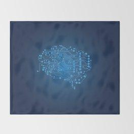 Electric brain Throw Blanket