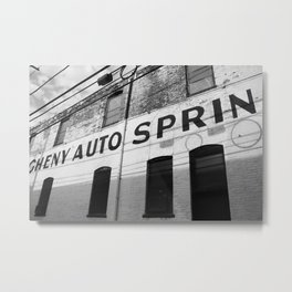 Allegheny West Industrial - B/W Metal Print