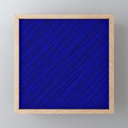 Royal ornament of their blue threads and dark intersecting fibers. Framed Mini Art Print