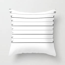 Police line up, usual suspects   shower curtain/bed cover Throw Pillow