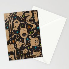Topsy Turvy - Dark Stationery Cards