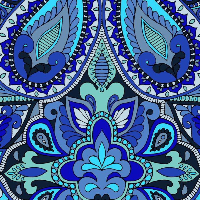 Paisley Blue Leggings