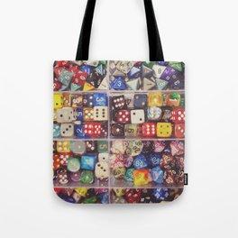 Colorful Dice Tote Bag
