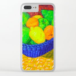 Still Life with Apples, Lemons, Oranges, and Pear Clear iPhone Case