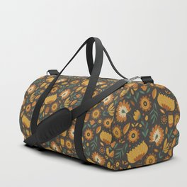 Autumn Folk Art Florals Duffle Bag