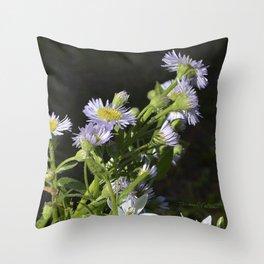 Anemone Wildflowers Throw Pillow