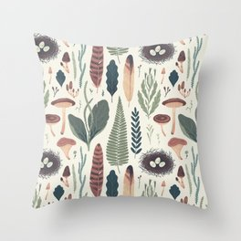 Forest Fall Pattern Throw Pillow