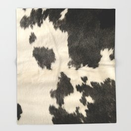 Black & White Cow Hide Throw Blanket