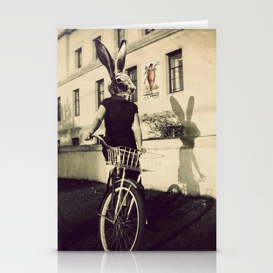 Bunny on Bicycle Stationery Cards