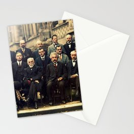Solvay Conference 1927 Einstein Scientists Group Stationery Cards