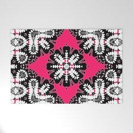Geometric Tribal Hot Pink & Black Welcome Mat