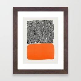 City Sunset Abstract Framed Art Print