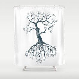Tree without leaves Shower Curtain