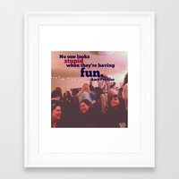 amy poehler Framed Art Prints featuring Amy Poehler Typography by Pri-Prianna