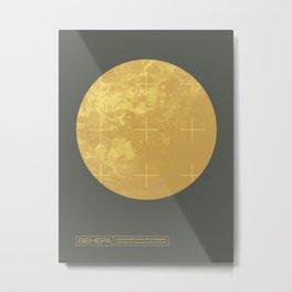 Venus Planet Space Program Retro 70s - Russian Metal Print