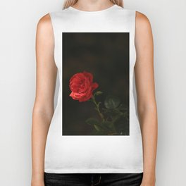 The wild red rose Biker Tank