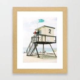 Lifeguard Station in Laguna Beach Framed Art Print