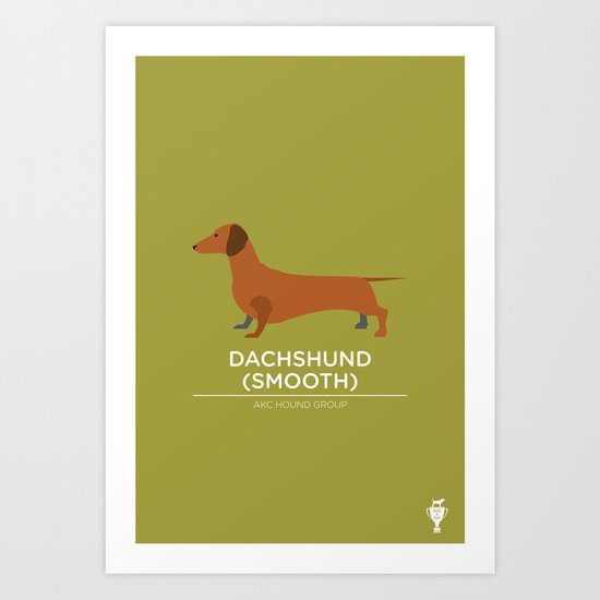 Dachshund (Smooth) Art Print